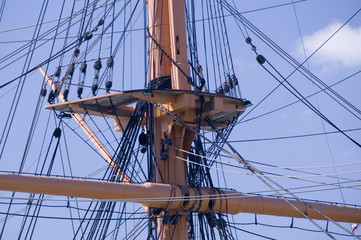 Crow's Nest, HMS Warrior, Portsmouth Harbour, UK