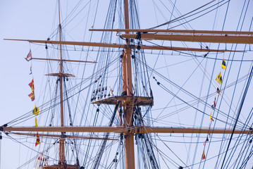 Rigging, HMS Warrior, Portsmouth UK