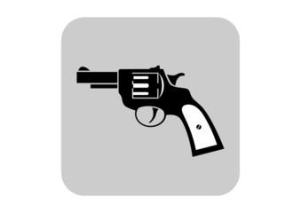 Revolver vector icon