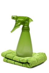 Environmentally Safe Green Cleaner and Rag