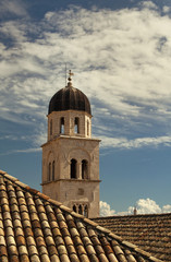 Beautiful church tower in Dubrovnik