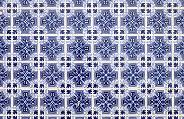 Traditionell blue portuguese tiles