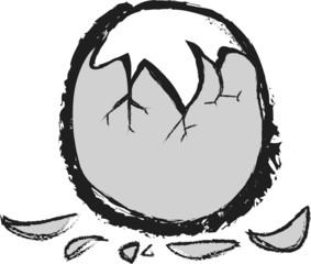 doodle cracked breakfast egg