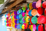 Colourful wind chime poster