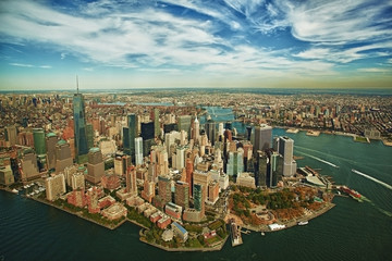 manhattan view in new york