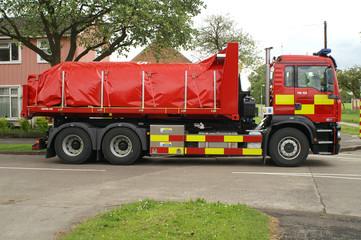 fire service equipment truck,