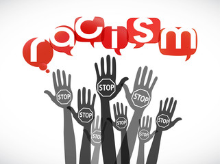 groupe mains : stop racism