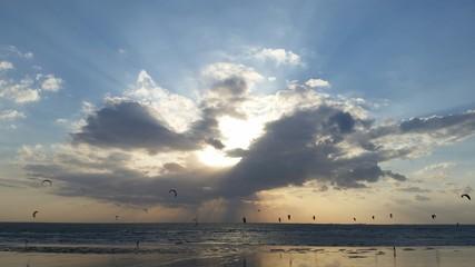 Couché de soleil plage 2