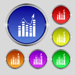 Text file icon. Add document with chart sign. Accounting symbol