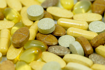 Drugs and food supplements pills