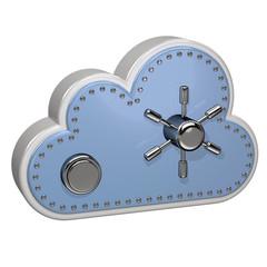 Cloud Computing Rechnen in der Wolke Cyberspace 3D hellblau