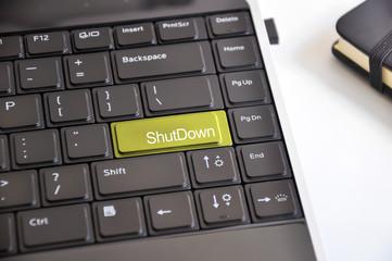 Shutdown keyboard button