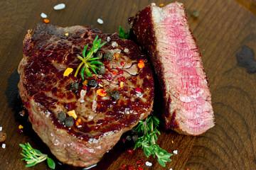 Steak gebraten