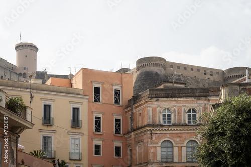 canvas print picture Schöne alte Gebäude in Gaeta
