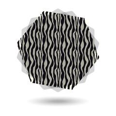 Vignette zèbre - Zebra tag