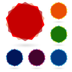 Vignettes couleurs - Colorful tags