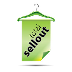 Total sellout hanger - green