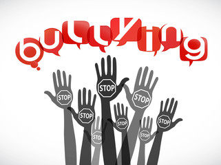 groupe mains : stop bullying