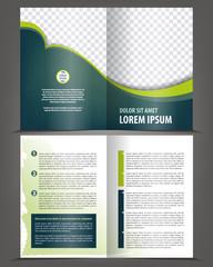 Vector empty brochure print template design
