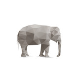 Fototapety Abstract elephant isolated on a white backgrounds