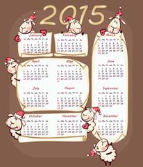 New Year's calendar 2015