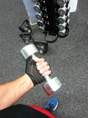 Haciendo pesas
