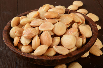 Bowl of marcona almonds