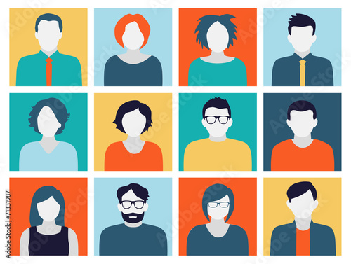 Avatars - Characters in Flat Design Style - 71331987