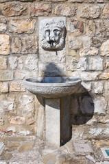 Monumental fountain. Satriano di Lucania. Italy.