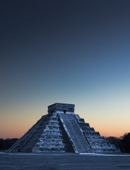 Chicen Itza, Mexico at sunrise