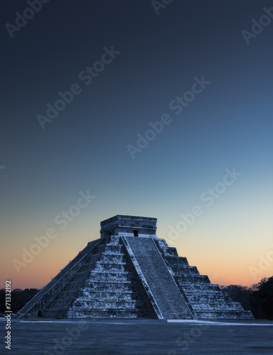 Fotobehang Natuur Park Chicen Itza, Mexico at sunrise