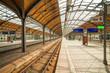 Leinwanddruck Bild - wroclaw railway station
