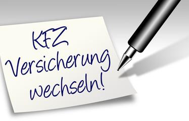 Notiz - Kfz-Versicherung wechseln!