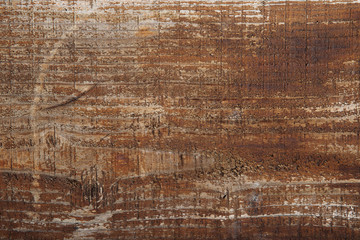 Old wooden surface of brown color