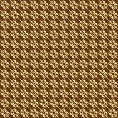 Brown Colors Art Deco Style lattice Pattern design. Original Pat