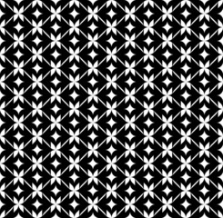 Black and white geometric seamless pattern.