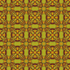 Various Colors of Art Nouveau Style Pattern design.