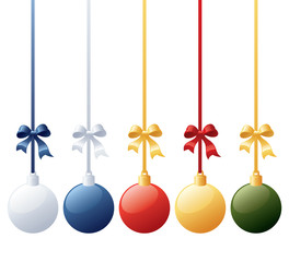 Coloured Baubles Round