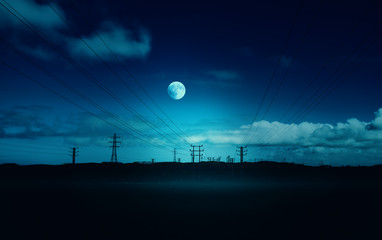 moonlit phone lines
