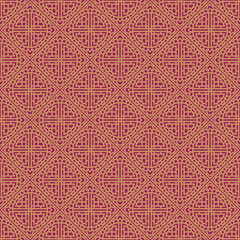 Red Colors Square grid Pattern design. Korean traditional Patter