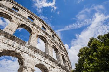 Ancient Roman amphitheater, the Colosseum.
