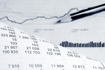 Financial accounting graphs and charts analysis
