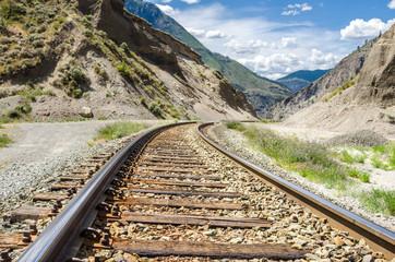 Railway Tracks in a Mountainous Region