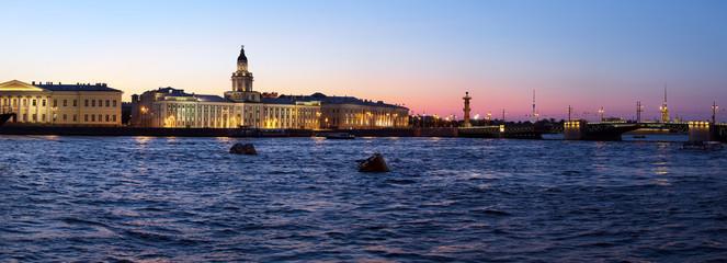 Panorama of Kunstkamera and Neva, Saint Petersburg