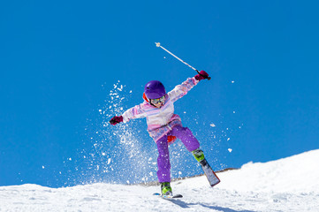 Little Girl on skis