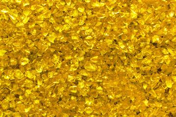 golden glass granules background