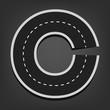 C letter. Road font - 71335368