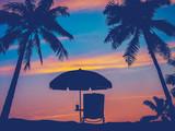 Retro Beach Umbrella
