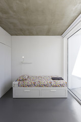 Bedroom in modern vacation house