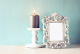 low key image of vintage antique classical frame